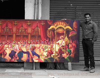 "Check out this @Behance project: ""Chhatrapati Shivaji Maharaj Rajyabhishek Painting"" https://www.behance.net/gallery/28210439/Chhatrapati-Shivaji-Maharaj-Rajyabhishek-Painting"