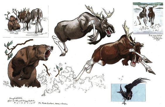 Brother Bear Character Designs by Terryl Whitlatch