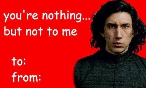 Pinejunkie What A Great Day To Remember Reylo Is Canon Star Wars Memes Star Wars Valentines Star Wars Fandom