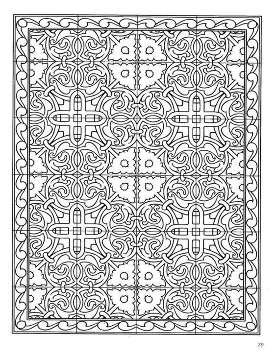 ***Dover Publications - Decorative Tile Designs Coloring Book