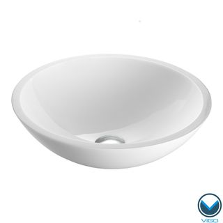 Bathroom Sinks Overstock vigo flat edged white phoenix stone glass vessel bathroom sink