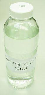 Homemade rosewater & witch hazel toner