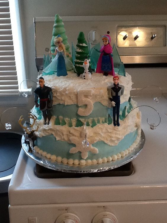 5 Year Old Girls Frozen Birthday Cake Made By Angie H