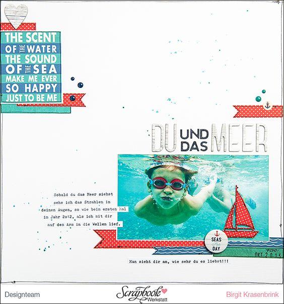 """Designteamarbeit für die Scrapbook-Werkstatt - mit der Serie """"Yacht Club"""" von Carta Bella -  SCRAP´inFeACTed:"""