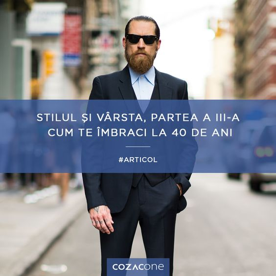 """Am ajuns la partea a treia a seriei """"Stilul și vârsta"""" - cu ghidul de stil al gentlemanului de 40 de ani: http://www.cozacone.ro/lifestyle/stilul-si-varsta-cum-te-imbraci-la-40-de-ani/"""