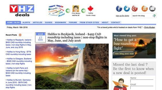 Halifax: YHZ Deals | 10 Discount Travel Sites Every Canadian Should Know About