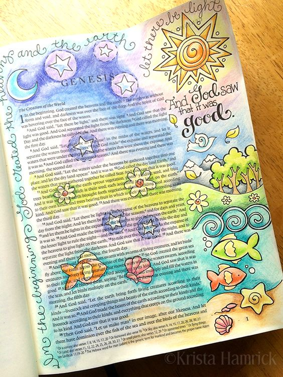 Genesis... I don't think I could ever do this to any book much less a Bible but this does look really cool!!!: