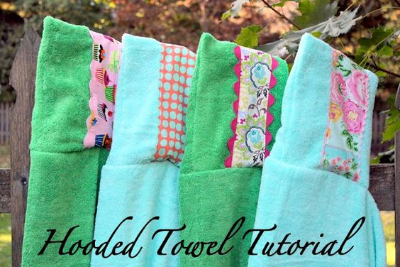 Tutorial for embellished hooded towels. Great baby shower gift idea or cute for any little one!