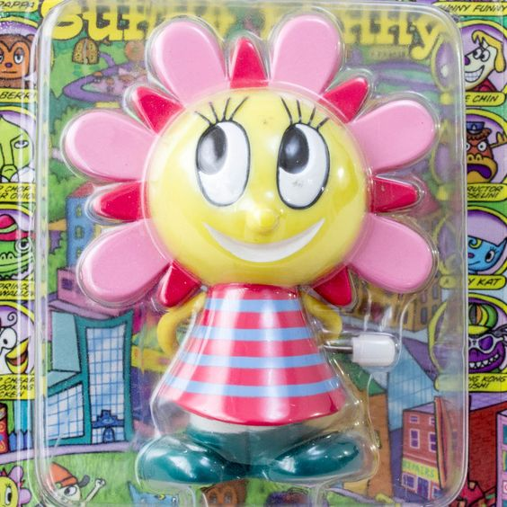 Parappa The Rapper Sunny WInd-Up Mini Figure Medicom Toy JAPAN ANIME GAME