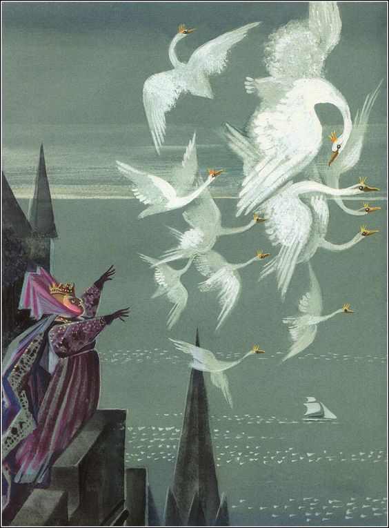 hans christian andersen the wild swans illustration by