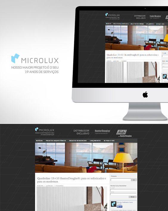 Criação e manutenção do Blog da Microlux