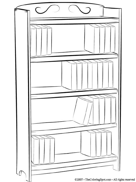 Bookshelf Coloring Pages For Kids Coloring Pages Free Coloring Pages