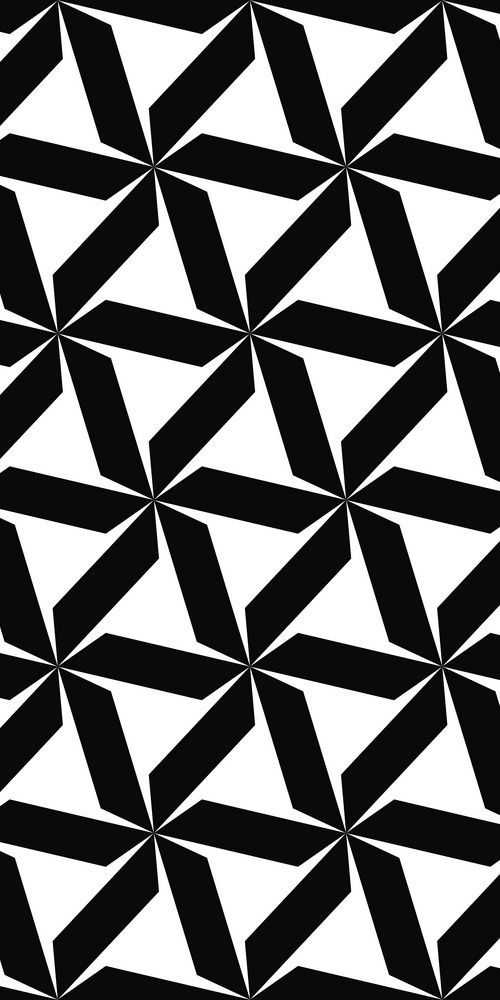 Seamless Black And White Hexagonal Abstract Geometric Pattern