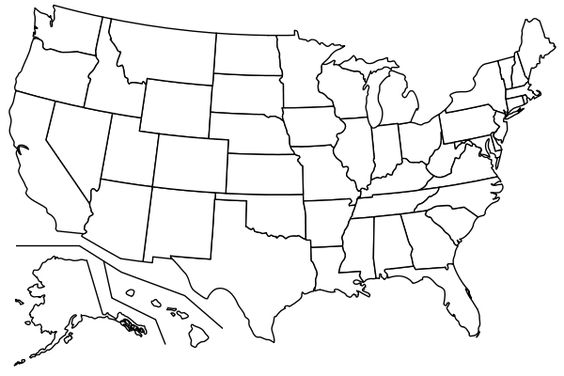 Printable Blank USA Mapcolor In The States Your Kids Have Been - Blank us map for kids