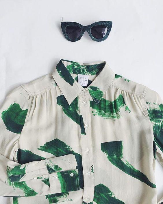 Dusen Dusen Sunglasses, Wray Collection Galata Button-up Shirt