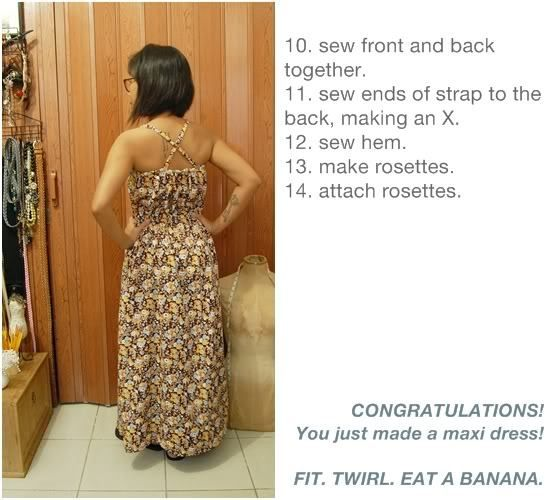 tutorial: how to sew a simple maxi dress