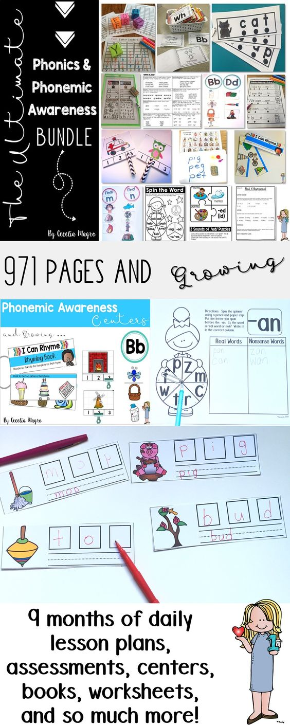 971 pages and growing! This growing bundle will have 36 weeks of phonics and phonemic awareness instruction PLUS everything you need to reinforce concepts learned.  This bundle is 25% off original price!