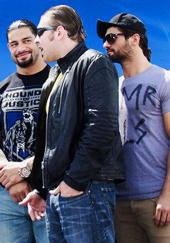 Roman Reigns Dean Ambrose and Seth Rollins