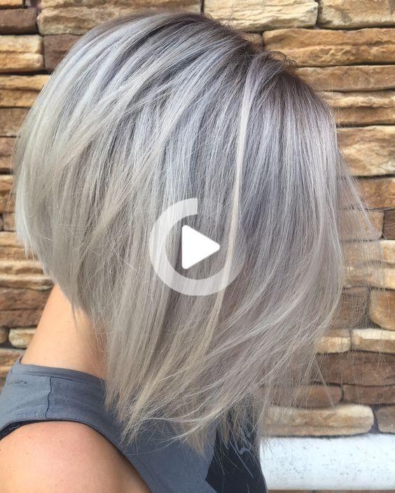 48 Inspirations Et Idees De Coiffure Pour Cheveux Gris Cheveux Mi Long Coupe Cheveux Mi Long Cheveux Gris