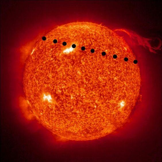 Transit of Venus 2012: The planet will follow a path high across the sun. NASA photo via indiancountrytodaymedianetwork.com #Transit_of_Venus #NASA #indiancountrytodaymedianetwork