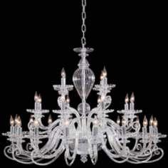 "Metropolitan Traditional 41"" Wide Clear Glass Chandelier. Lamps Plus."