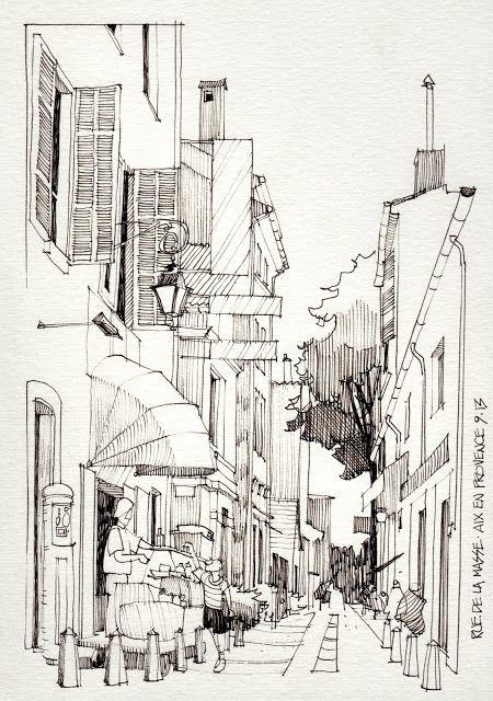 Sketsa Pemandangan Kehidupan Kota