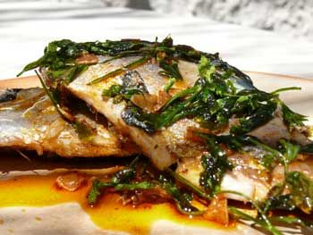 Spanish mackerel recipe using some traditional Spanish ingredients. The smoked paprika in this recipe really adds a twist to the mackerel fillets, accompanied by a little garlic and pepper you have an olive oil based sauce. Drizzled over the pan fried fillets this dish is full of flavour. Keep the fresh bread ready for mopping …