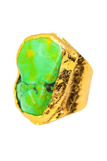 Charlene K Green Turquoise Cigar Ring by Non Specific on @HauteLook