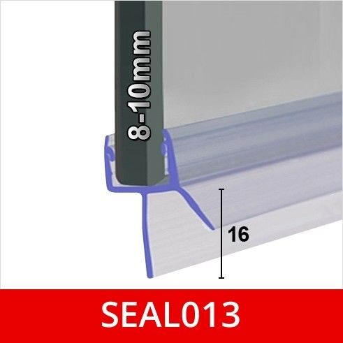 Seal 013 8 10mm Glass Gaps Up To 16mm Bath Shower Screens Shower Screen Glass