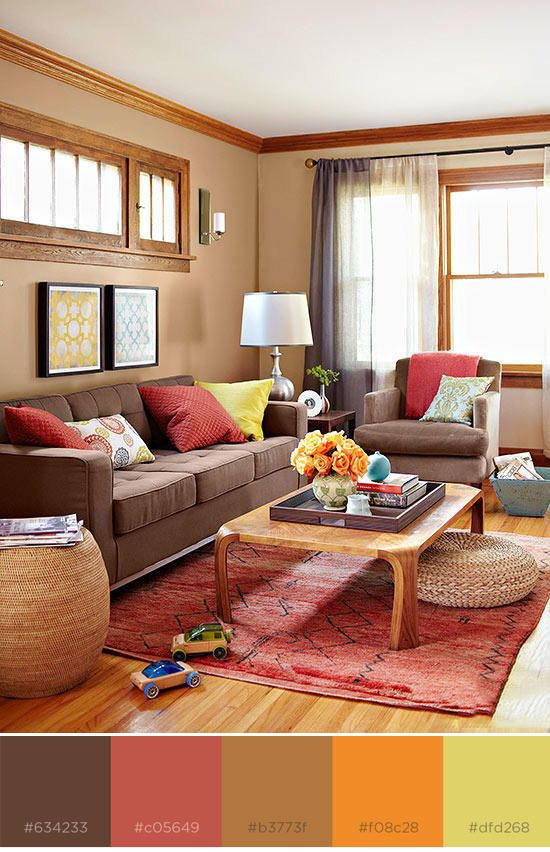 8 Rich Color Schemes That Prove Brown Based Designs Aren T Boring Brown Living Room Decor Living Room Color Schemes Family Room Colors