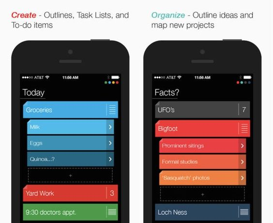 Suru: A Colorful Gesture Based Task Management app that can be used for Outlining Papers and Presentations, plus more