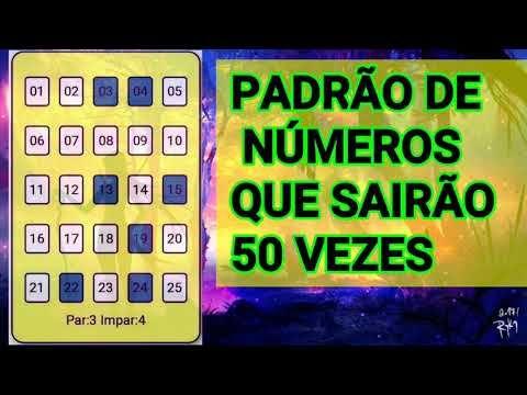 Padrao De Numeros Sorteados 50 Vezes Na Lotofacil Youtube