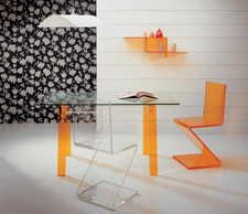 Acrylic furniture is the best choice for your home decoration. It has the power in transparency. Clear acrylic is a thermoplastic with the look of glass and the useful benefit of shatter resistance.