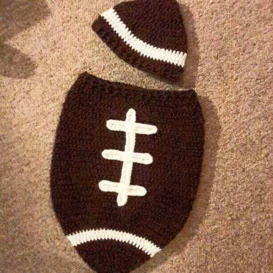 Knit Pattern Baby Football Hat : Newborn football, Hat patterns and The modern on Pinterest