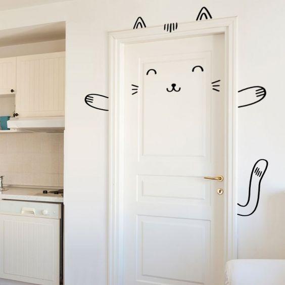 sticker chat my little bazar d coration pour chambre enfant chambre bebe pinterest. Black Bedroom Furniture Sets. Home Design Ideas