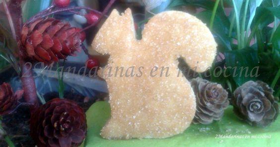 2Mandarinas en mi cocina: Ardillas en forma de galleta