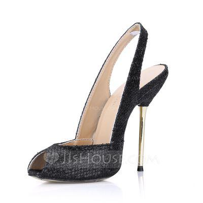 Porpurina Salto agulha Peep toe Sapatos abertos Sandálias (087022623)
