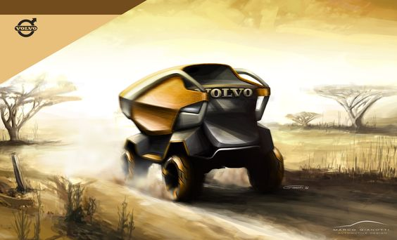 Volvo Truck concept - sketch rendering Marco Gianotti