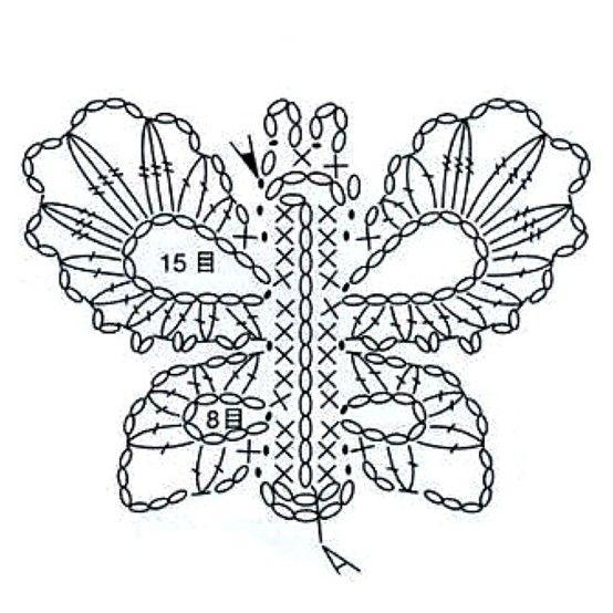 crochet butterfly  butterflies and crochet on pinterest