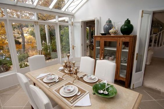 Conservatory dining room conservatory and dining rooms on for Conservatory dining room decorating ideas