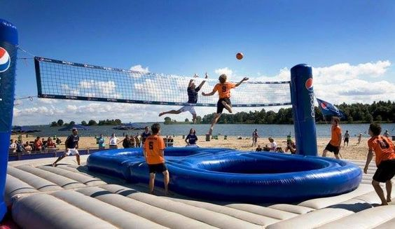 Inflatable Volleyball/Basketball Court