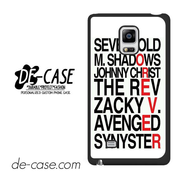 Avenged Sevenfold Quotes Forever DEAL-1191 Samsung Phonecase Cover For Samsung Galaxy Note Edge