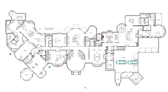 Mega mansion house plans design decor 513252 amazing Mega mansion floor plans
