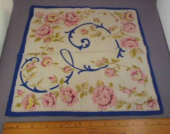 """E"" Vintage Ladies Mens Handkerchiefs Hanky Embroidery Lace Flowers White"