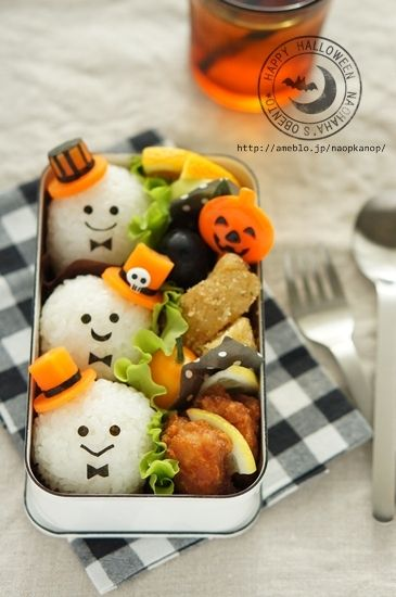 ghost onigiri bento bento pinterest sushi halloween ghosts and boxes. Black Bedroom Furniture Sets. Home Design Ideas