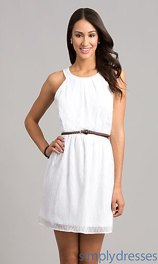Dresses Formal Prom Dresses Evening Wear: Short White Casual ...
