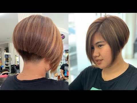 Undercut Bob Bob Hairstyle Youtube In 2020 Bob Hairstyles Short Stacked Bob Hairstyles Stacked Bob Hairstyles