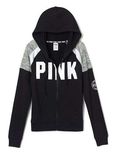Perfect Full Zip Hoodie - PINK - Victoria's Secret | Clothes ...