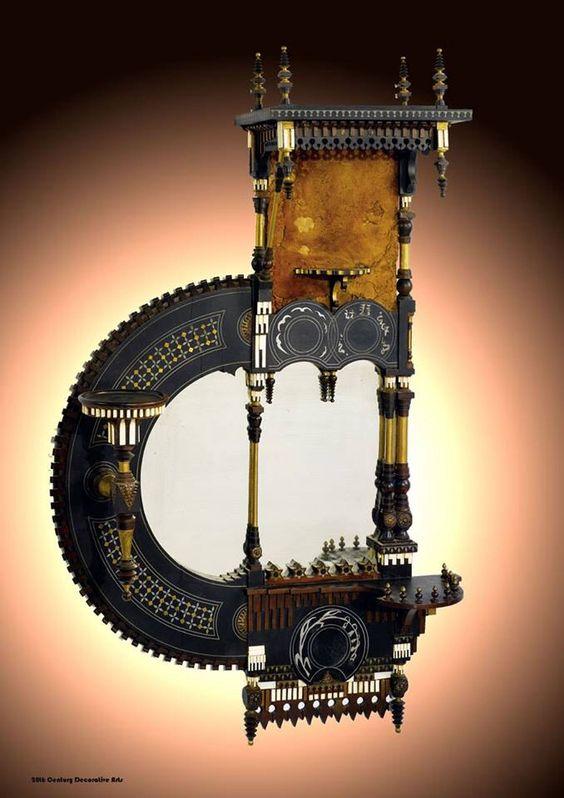 Carlo Bugatti wall mirror.