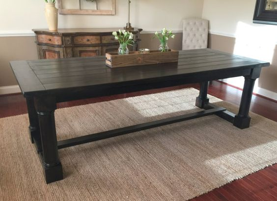 Modern Farmhouse Table Custom made by MSquaredWoodDecor on Etsy